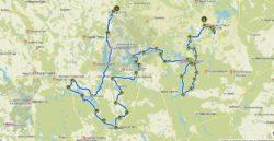 trasa wycieczki rowerowej po Pojezierzu Drwskim