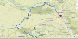 mapa trasy rowerowej Mazowsze